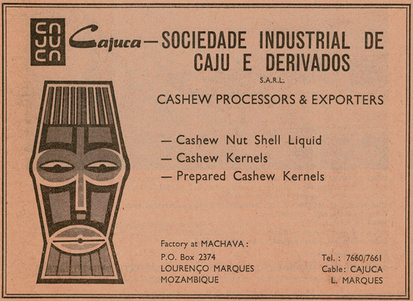 Advertisement for cashew, 18 August 1969