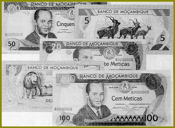 Design of unissued metica banknotes