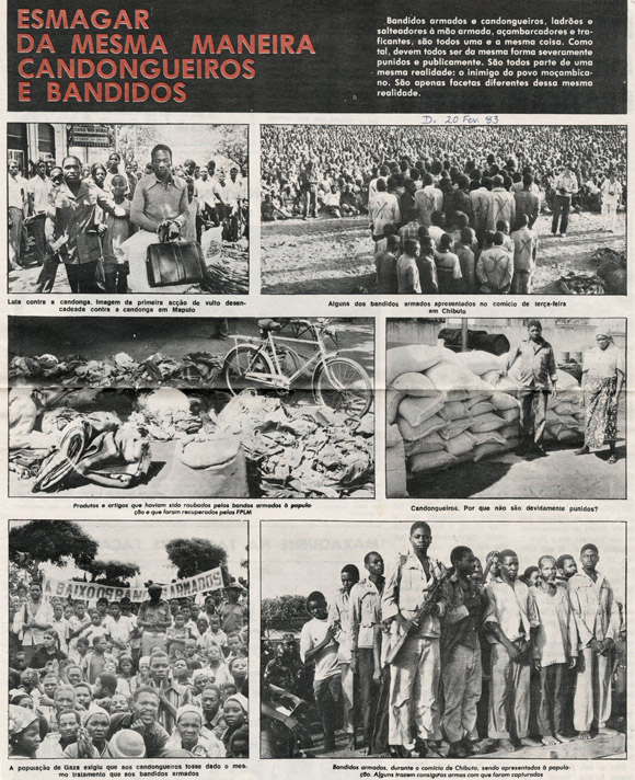 Page of photographs on Chibuto meeting