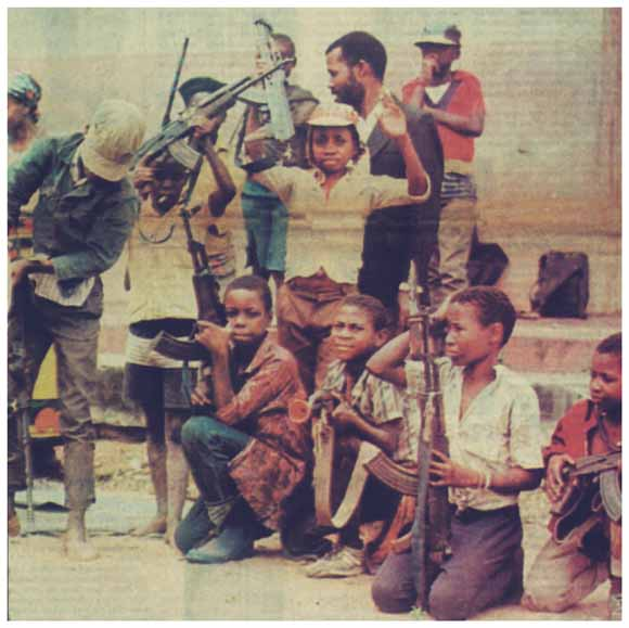Renamo child fighters