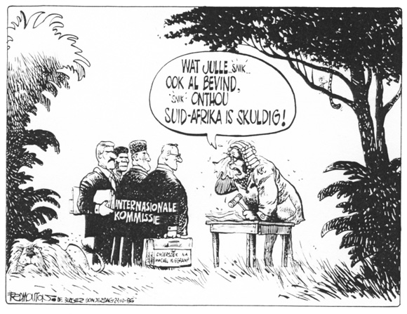 Cartoon from Die Burger