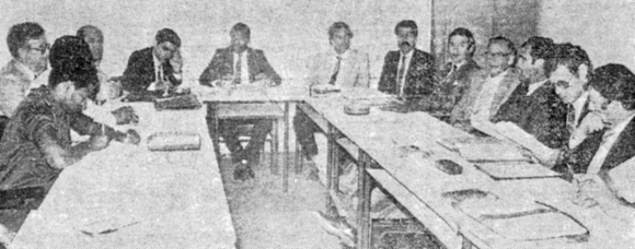 Tripartite Commission in session on 11 November 1986