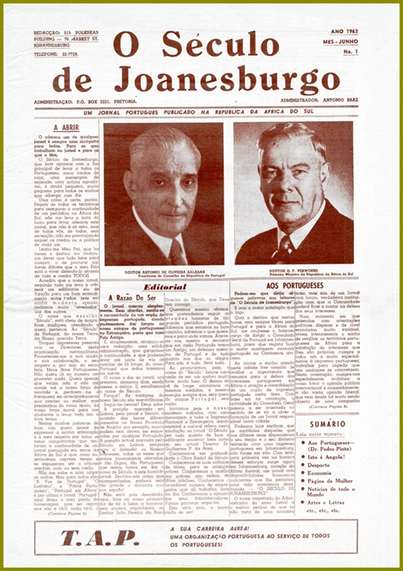 First issue of O Seculo de Joanesburgo