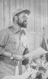 Samora Machel addressing the Council of Ministers