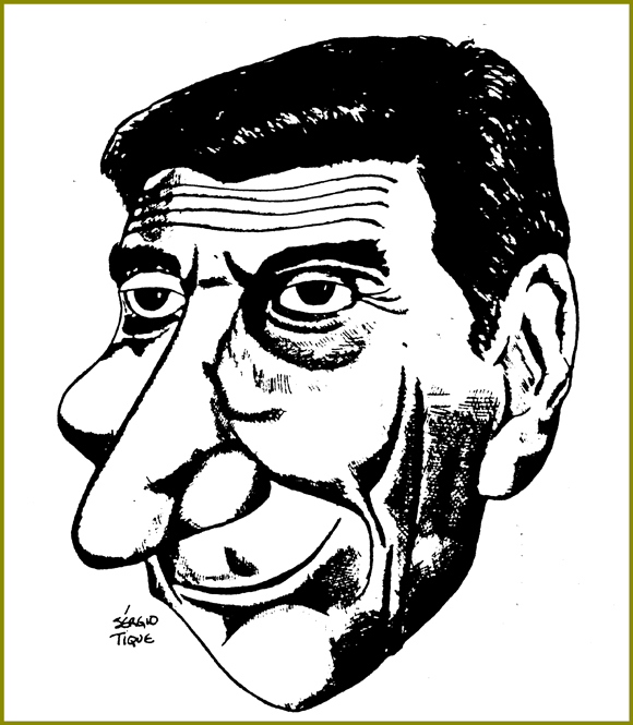 Caricature of Eugenio Lisboa