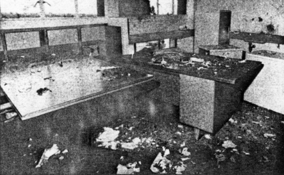 The office after the explosion