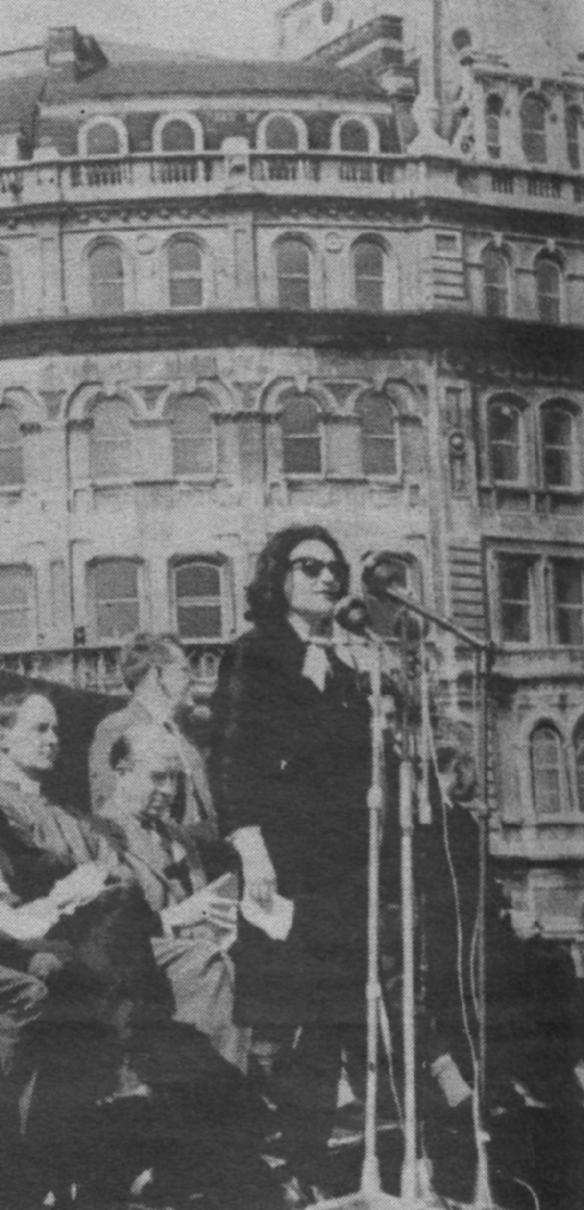 Ruth speaking in Trafalgar Square, London