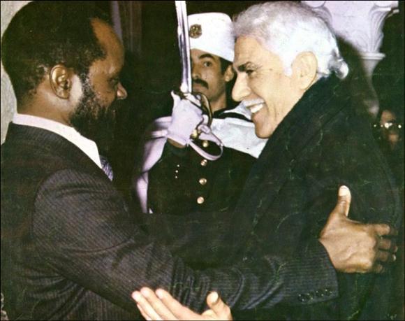 Samora Machel and Chadli Benjedid