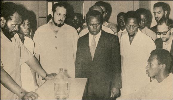 Samora Machel no Hospital Central do Maputo