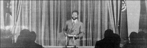 Samora Machel speaking on Zimbabwe