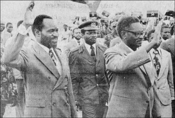 Samora Machel with Agostinho Neto