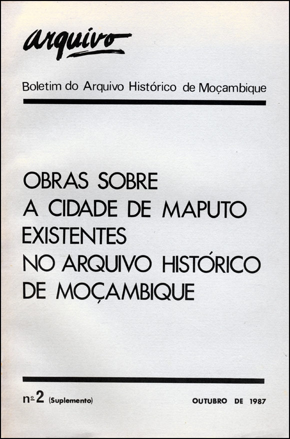 Cover of Arquivo, issue no.2, supplement