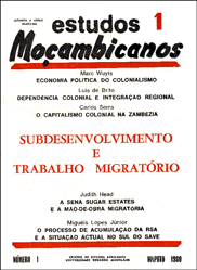 Cover of Estudos Mocambicanos, issue no.1