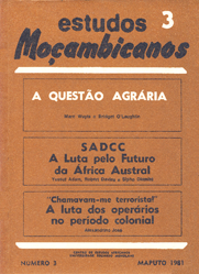 Cover of Estudos Mocambicanos, issue no.3