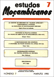 Cover of Estudos Mocambicanos, issue no.7