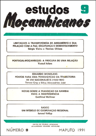 Cover of Estudos Mocambicanos, issue no.9