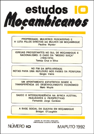 Cover of Estudos Mocambicanos, issue no.10