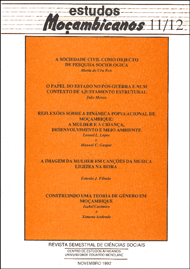 Cover of Estudos Mocambicanos, issue no.11-12