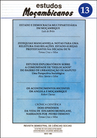 Cover of Estudos Mocambicanos, issue no.13