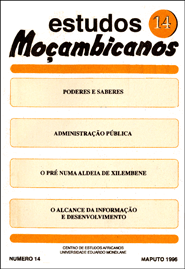 Cover of Estudos Mocambicanos, issue no.14