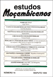 Cover of Estudos Mocambicanos, issue no.16