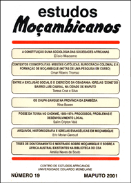 Cover of Estudos Mocambicanos, issue no.19