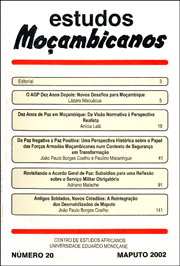 Cover of Estudos Mocambicanos, issue no.20