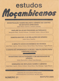 Cover of Estudos Mocambicanos, issue no.21